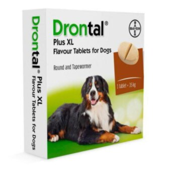 Bayer Drontal Plus XL - антигельминтик Байер Дронтал со вкусом мяса 2 табл в уп.