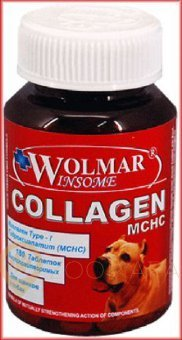 WOLMAR Collagen MCHC хондропротектор (гидроксиапатит Ca) для собак 180 табл.