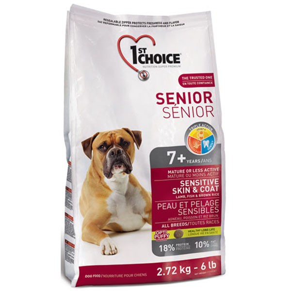 1st Choice Senior Sensitive Skin&Coat Lamb&Fish - Сухой корм для пожилых собак (ягненок, рыба)